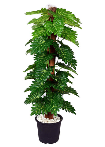 Ginni Bloom Artificial Philodendron Plant - 48 leaves, 3.2 ft