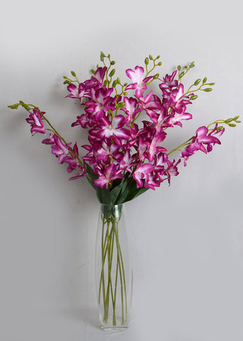 Purple Orchid/ Dendrobium Orchids (WHOLESALE PACK OF 24 STEMS)