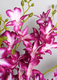 Artificial Purple Orchid/ Dendrobium Orchids (WHOLESALE PACK OF 24 STEMS)