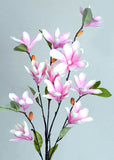 Artificial Mini Magnolia Flowers Pink (WHOLESALE PACK OF 12 STEMS)
