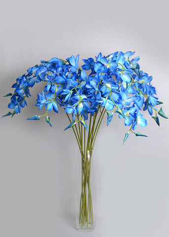 DROOPY BLUE ORCHID/ DENDROBIUM ORCHIDS (WHOLESALE PACK OF 250 STEMS @ 30/- each)