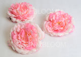 ARTIFICIAL XL PEONY HEAD - PINK (WHOLESALE PACK OF 50 HEADS)