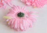 ARTIFICIAL CHRYSANTHEMUM HEAD - PINK (WHOLESALE PACK OF 50 HEADS)