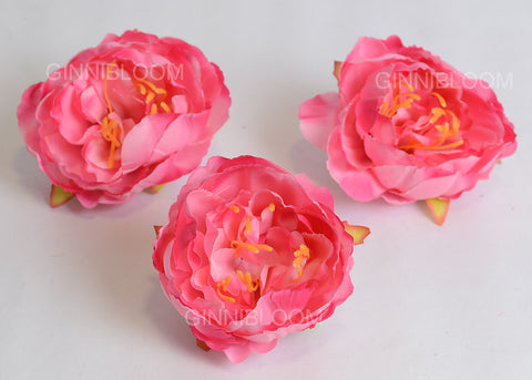 ARTIFICIAL PEONY HEAD - PINK (WHOLESALE PACK OF 500 HEADS @ RS. 13.00 EACH)