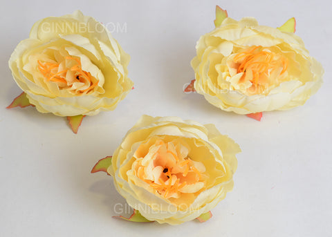ARTIFICIAL PEONY HEAD - PEACH (WHOLESALE PACK OF 50 HEADS)