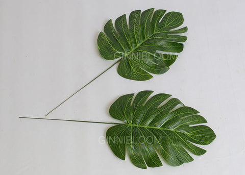 ARTIFICIAL SMALL MONSTERA LEAF (WHOLESALE PACK OF 40 STEMS)