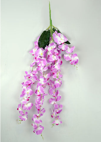 ARTIFICIAL HANGING ORCHID - PURPLE (WHOLESALE PACK OF 6)