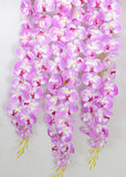 ARTIFICIAL HANGING BUTTERFLY ORCHID X 3 - PURPLE (WHOLESALE PACK OF 6)