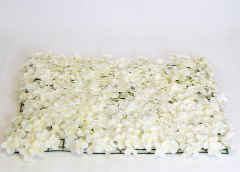 ARTIFICIAL HYDRANGEA FLOWER MAT - WHITE COLOUR (WHOLESALE PACK OF 12 PC/ 30 SQ FEET)