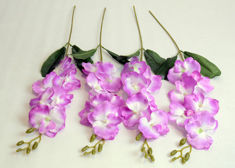 ARTIFICIAL BUTTERFLY ORCHID - PURPLE (WHOLESALE PACK OF 24 STEMS)