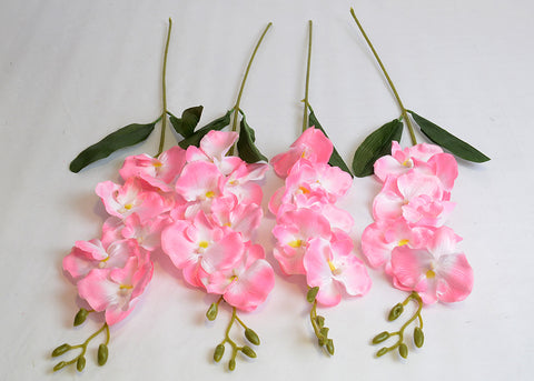 ARTIFICIAL BUTTERFLY ORCHID - PINK (WHOLESALE PACK OF 24 STEMS)