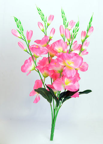 ARTIFICIAL GLADIOLI BUNCH - PINK (WHOLESALE PACK OF 12 BUNCH)