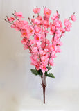 ARTIFICIAL CHERRY BLOSSOM BUNCH - LIGHT PINK (WHOLESALE PACK OF 12 BUNCHES)