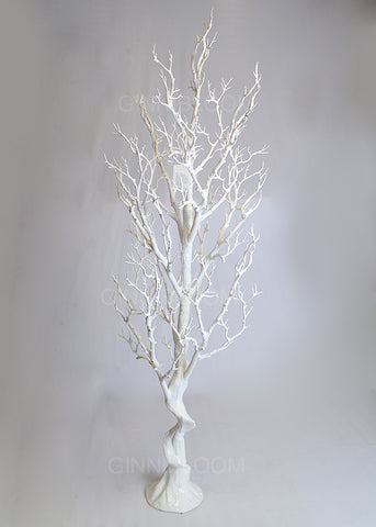 ARTIFICIAL WHITE BRANCHED TREE - 4 FT (WHOLESALE PACK OF 1 PC)