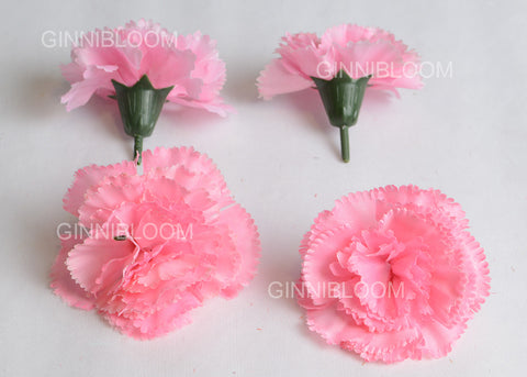 ARTIFICIAL CARNATION HEADS - LIGHT PINK  (WHOLESALE PACK OF 1000 HEADS)