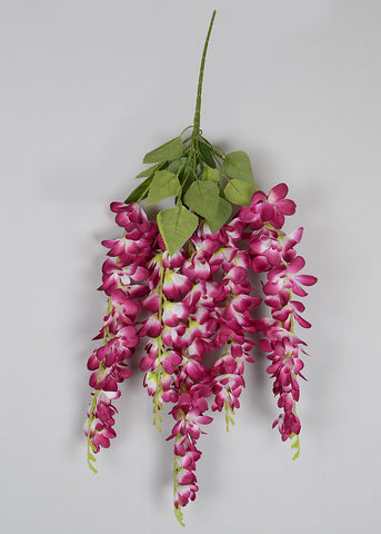 ARTIFICIAL THICK HANGING ORCHID BUNCH x 5 - PURPLE (WHOLESALE PACK OF 120 PCS, @ 120/- EACH)