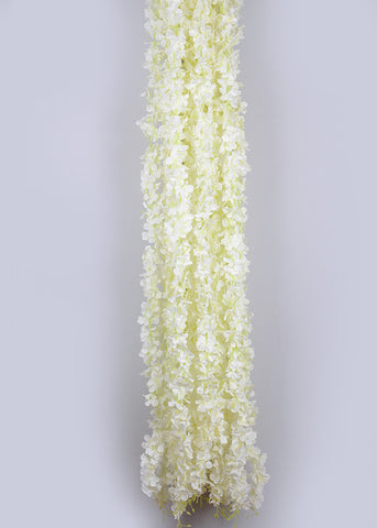 6.5 FT FLOWER RUNNER/ LADI - WHITE (WHOLESALE PACK OF 10 PCS)