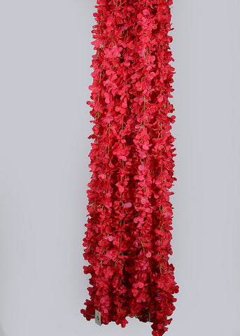 6.5 FT FLOWER RUNNER/ LADI - RED (WHOLESALE PACK OF 10 PCS)