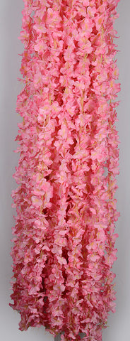 6.5 FT FLOWER RUNNER/ LADI - PINK (WHOLESALE PACK OF 120 PCS @ 85/- EACH)