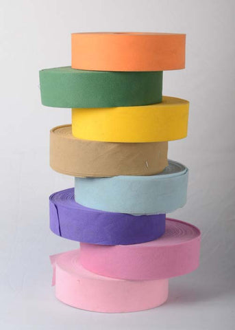 NON WOVEN RIBBON ROLL 50 YARDS (WHOLESALE PACK OF 24 ROLLS MIX COLOUR @ 110/- EACH)