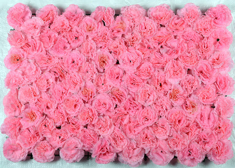 ARTIFICIAL CARNATION FLOWER MAT - LIGHT PINK COLOUR (WHOLESALE PACK OF 6 MATS/ 15 SQ FEET)