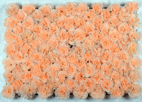 ARTIFICIAL CARNATION FLOWER MAT - PEACH COLOUR (WHOLESALE PACK OF 6 MATS/ 15 SQ FEET)