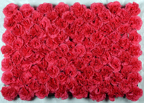 ARTIFICIAL CARNATION FLOWER MAT - DARK PINK COLOUR (WHOLESALE PACK OF 6 MATS/ 15 SQ FEET)
