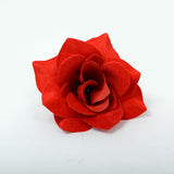 ARTIFICIAL VELVET ROSE HEAD - RED (WHOLESALE PACK OF 180 HEADS)