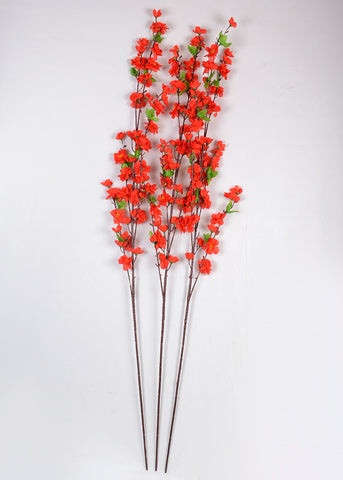 CHERRY BLOSSOM STICK- RED (WHOLESALE PACK OF 20 STEMS)