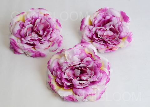 ARTIFICIAL XL PEONY HEAD - PURPLE SHADED (WHOLESALE PACK OF 200 HEADS @ RS. 35.00 EACH)