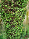 ARTIFICIAL MOSS COVERED HANGING METAL BASKET - CONICAL 28 INCH