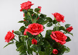 ARTIFICIAL RED ROSE PLANT - 3 FT