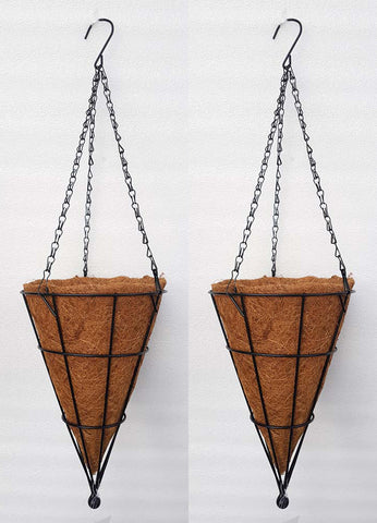 COCO COIR INNER METAL HANGING BASKET - CONICAL 12 INCH (SET OF 2 PC)