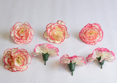 ARTIFICIAL CARNATION HEADS - PINK SHADED (WHOLESALE PACK OF 1000 HEADS)