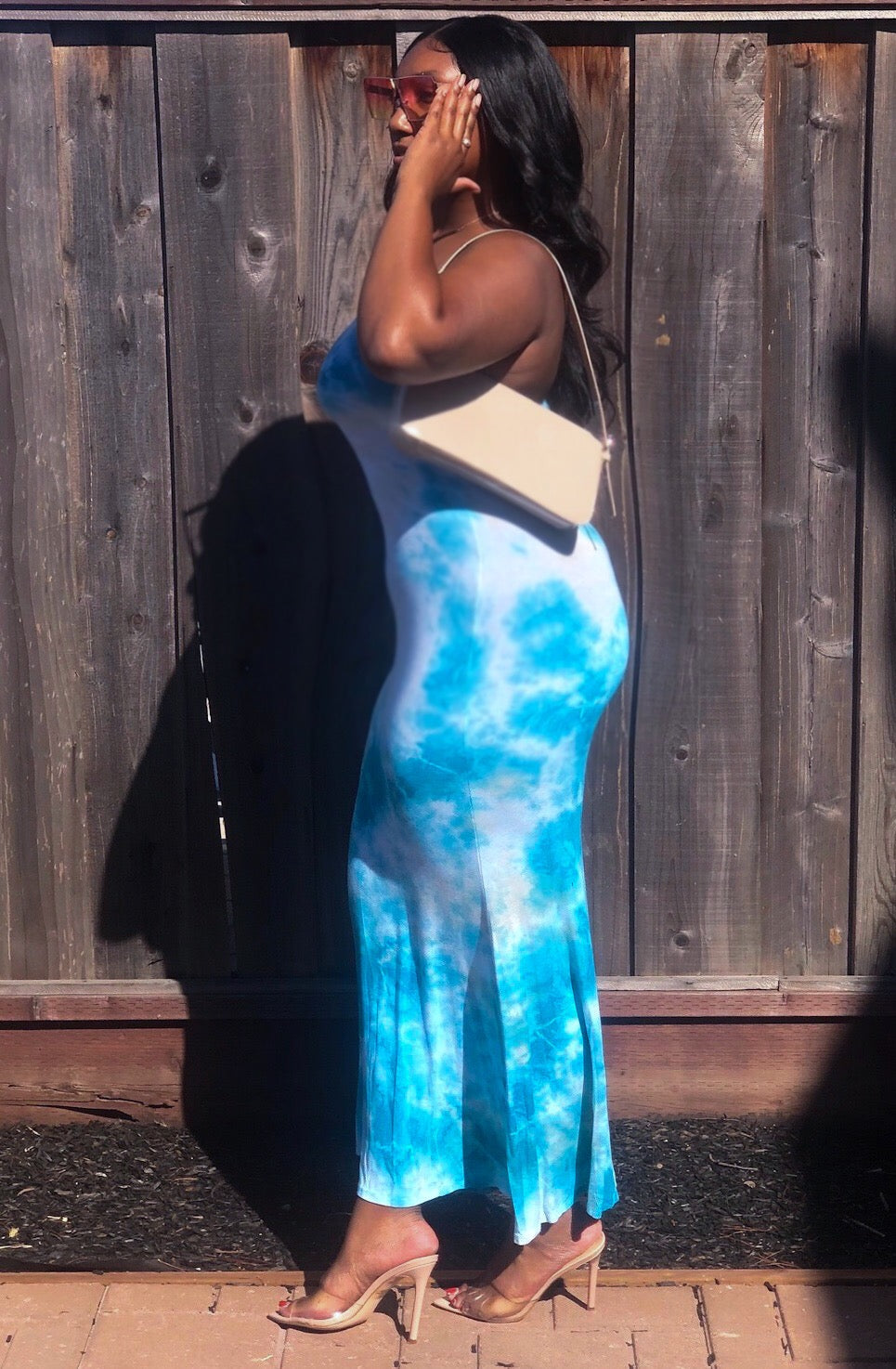 Sky Blue Maxi Tube Dress