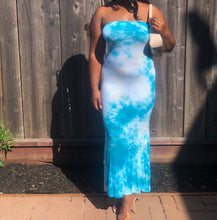 Load image into Gallery viewer, Sky Blue Maxi Tube Dress