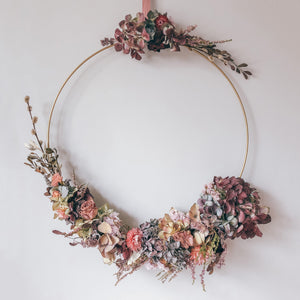 Dried Flower Hoop Wreath Jane Smith Floral Design