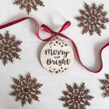 Load image into Gallery viewer, Merry and Bright Gift Tag