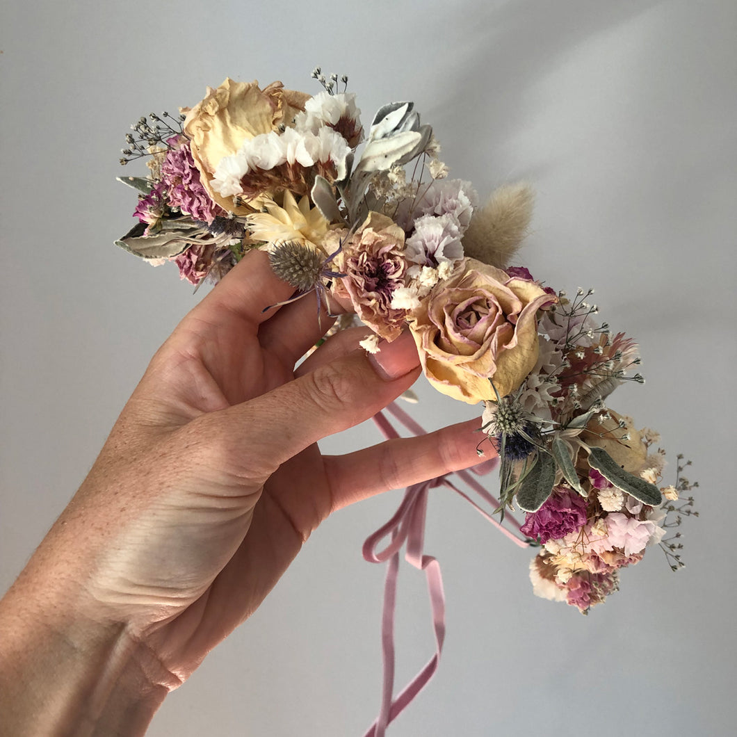 Dried Flower Crown - Halo Jane Smith Floral Design