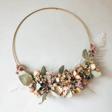 Load image into Gallery viewer, Dried Flower Hoop Wreath Jane Smith Floral Design