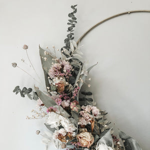 Dried Flower Hoop Wreath