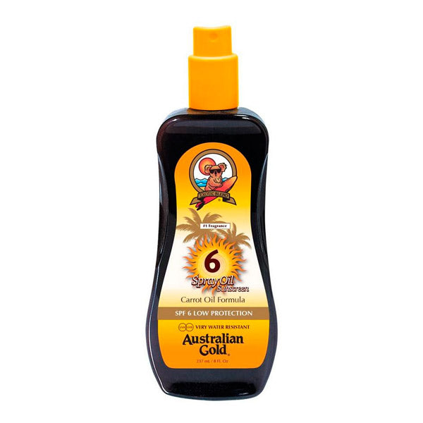 Tanning Oil Sunscreen Australian Gold SPF 6 (237 ml)