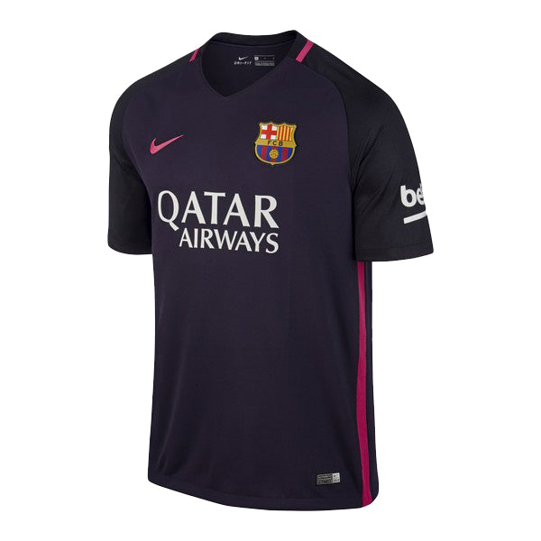 Men's Short-sleeved Football Shirt Nike FC Barcelona Purple (2ª) (Size xl - us)