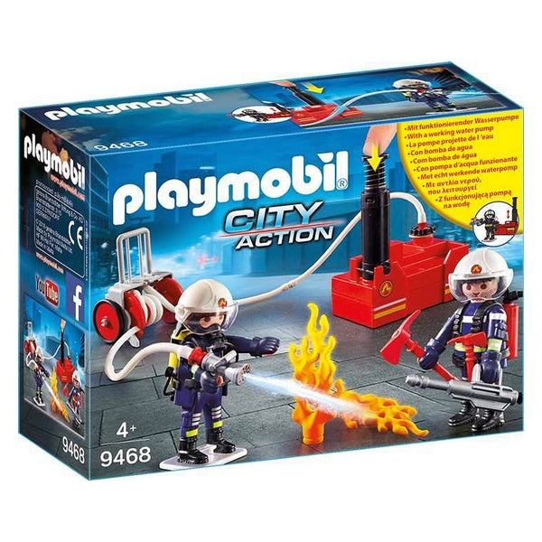 Playset City Action -  Firefighters With Water Pump Playmobil 9468