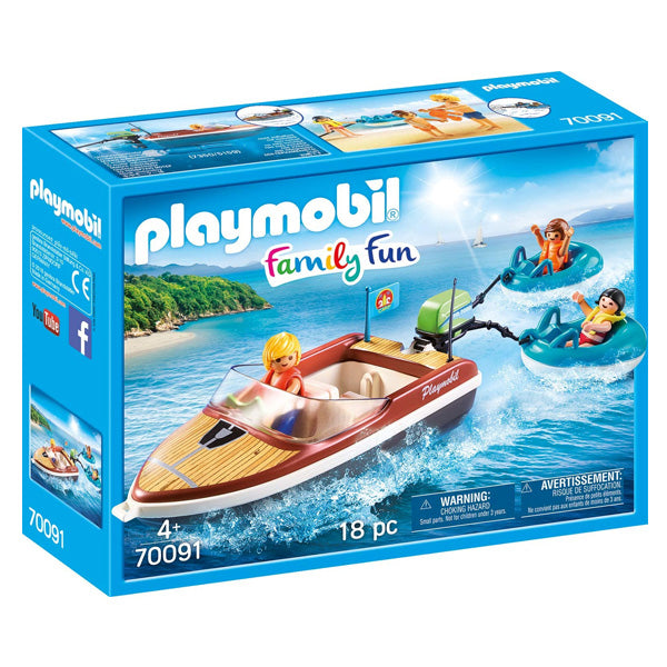 Playset Family Fun Boat With Floats Playmobil 70091 (18 pcs)