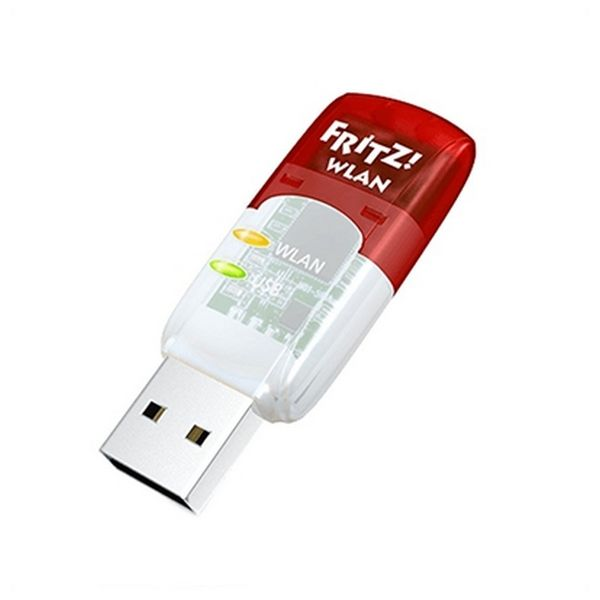 Wi-Fi Network Card Fritz! AC430 5 GHz 433 Mbps USB Transparent Red