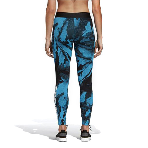 Sport leggings for Women Adidas W E AOP TIGHT Camouflage Blue