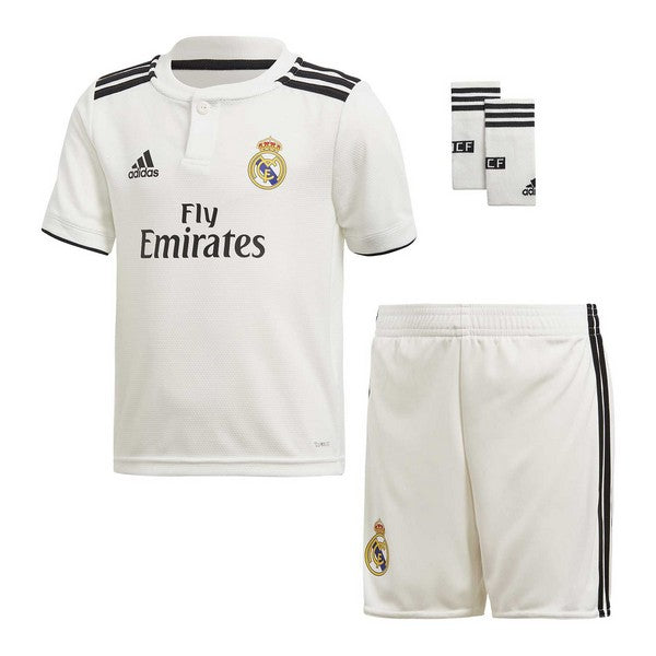 Children's Football Equipment Set Adidas Real Madrid White 18/19 (1ª) (3 Pcs)