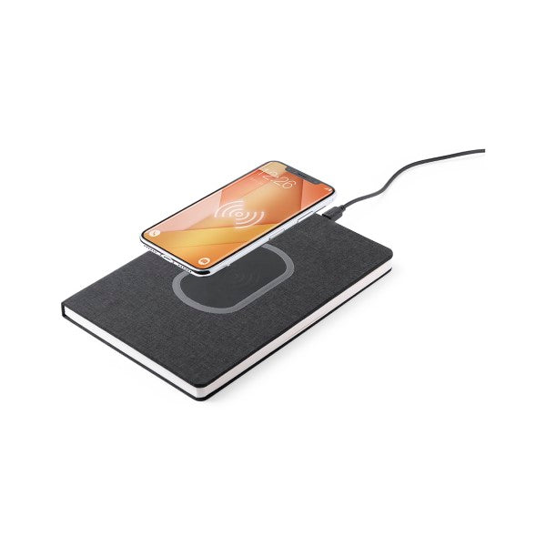 Note Block with Qi Wireless Charger Black 146185