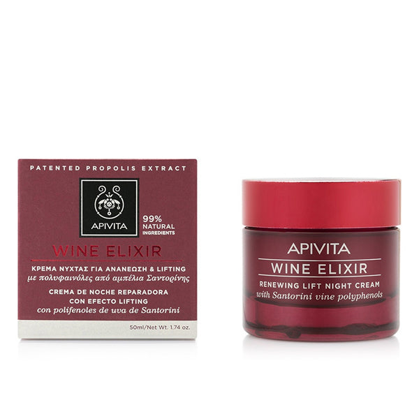 Anti-Ageing Night Cream Wine Elixir Renewing Apivita (50 ml)